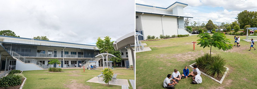 Junior secondary and Community HUB buildings